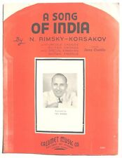 1935 Vintage Sheet Music: Ted Weems A SONG OF INDIA By N. RIMSKY - KORSAKOV