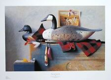 The Sporting Life - Sid Willis - still life poster -71x47cms, fishing wall art