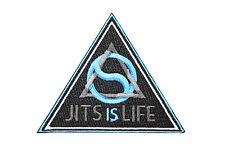Jiu Jitsu Gi Patch BJJ JITS IS LIFE 100% Embroidery IRON-ON Triangle