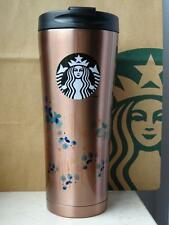 Starbucks Tumbler Thermobecher Edelstahl kupferfarbend mit Muster Logo 16oz NEU