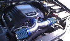 06-10 Jeep Commander 5.7L V8 HEMI Dual Twin Air Intake Kit + BLUE FILTER
