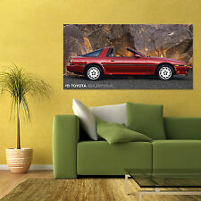 TOYOTA SUPRA TURBO MK3 MARK MKIII LARGE AUTOMOTIVE HD POSTER ART 24x48in