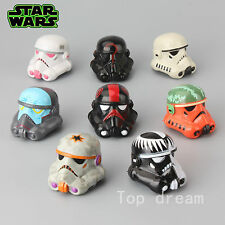 New 8X Star Wars Darth Vader & Storm Trooper Head Action Figures Cool Doll Toy
