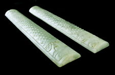 """9"""" CHINESE JADE SCROLL WEIGHTS"""