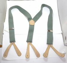 GENUINE  BRITISH RAF  ELASTICATED TROUSERS SUSPENDER BRACES