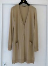 CHIC MINIMALISM!1.990£!EXQUISITE LORO PIANA LONG 100%CASHMERE CARDIGAN