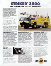 Oshkosh Striker 3000 Prospekt USA 2003 Feuerwehr fire engine truck Lkw Amerika