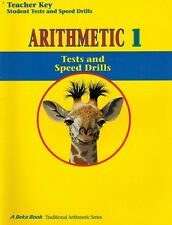 A Beka Arithmetic 1 Tests and Speed Drills Key - 1st Grade