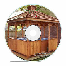 Beginner Design Gazebo Plans, 12ft Square Gazebo, Hip Roof Plans, Easy to Build