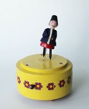 Vtg Reuge Steinbach Dancing Doll Doctor Zhivago Wood Music Box Westphal Germany