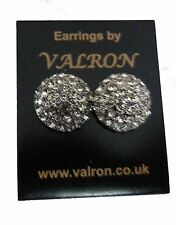 15MM SPARKLE CRYSTAL DOME STUD EARRING