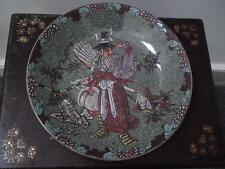 19th century Japanese Meiji green celadon crackle glazed large dish / charger