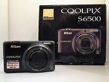 New Open Box -  Nikon COOLPIX S6500 16.0 MP Digital Camera - Black - $290