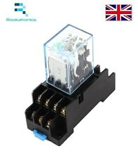 12VDC Coil Power Relay MY4NJ  4NO 4NC 14 Pins with Socket Base -Free Postage