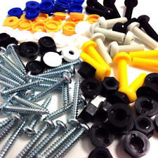 84 PIECE NUMBER PLATE FIXING SCREWS CAPS BOLTS NUTS FITTING FIXING KIT