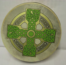 "Irish MUSIC 8"" Cloghan Cross Bodhran Drum Beater 2 Items"