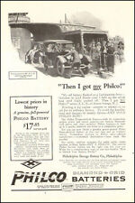 1924 vintage AD PHILCO Diamond Auto Batteries Art Old car on ferry  050516