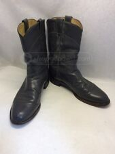 Justin 3025 Men's Gray Leather Roper Boots Sz 9.5 B