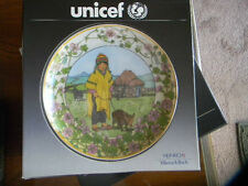 "Unicef Collectors Plate ""Our Children, PERU"" Villeroy designed by K.Blume NIB"