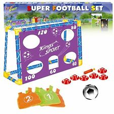 Football Shooting Free Kick Penalty Practice Goalpost Net Cones Vests & Ball Set