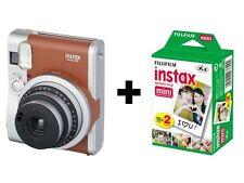 Fuji Instax Mini 90 Neo Classic Instant Film Camera Brown + Instax Film (20 Pk)