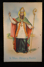 OLD SAINT BLAISE POSTCARD . SEE MY EBAY SHOP . CCER47