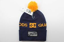 New DC SHOES Mens 1994 Beanie Blue OSFM Snowboarding Acrylic/Spandex Blend BW1