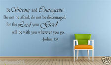 Joshua 1:9 Bible  vinyl wall Stickers decal quote Inspiration Art Decor