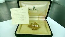 STUNNING / RARE / VINTAGE MIKIMOTO 9CT GOLD & PEARL BROOCH. ESPECIALLY MADE !!!!