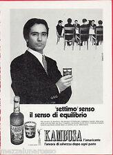 Pubblicità Advertising 1971 KAMBUSA l' amaricante (1)
