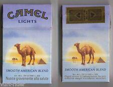 CAMEL LIGHTS cigarette Duty Free empty box '90 - Ogni anno il tab... - very good