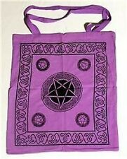 LADIES PURPLE PENTAGRAM TOTE BAG