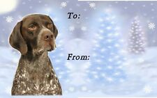 German Shorthaired Pointer Christmas Labels - Starprint