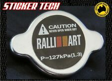 BLACK RALLIART RADIATOR CAP STICKER DECAL SUITS EVOLUTION EVO LANCER GSR MIRAGE