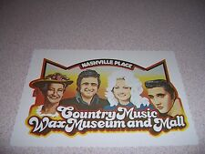 1970s COUNTRY MUSIC WAX MUSEUM and MALL NASHVILLE TN. VTG POSTCARD