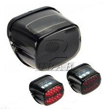 Smoke LED Brake Tail Light License Plate for Harley Touring Softail Dyna XL 883