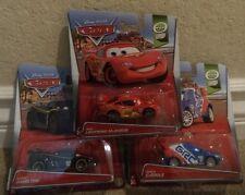 DISNEY PIXAR CARS WGP LEWIS HAMILTON RAUL CAROULE LIGHTNING MCQUEEN 2014 *NEW*