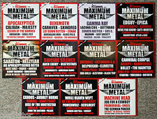 11 CD's • METAL HAMMER • MAXIMUM METAL • 190 BIS 200 • KOMPLETTER JAHRGANG 2014