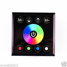 Black Wall Touch Panel RGBW 5pin rgb Dimmer Dimming Led controller DC 12v24V 16A