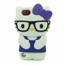 IPod Touch 5 5th Generation Hello Kitty Glasses 3D Character Case Cover - Purple
