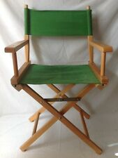 Vintage Wooden Folding Directors Chair Green Elrods