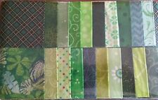 "Glorious Greens Fabric Jelly Roll Strips - 20 strips 2.5"" x 44"" Set 01"