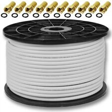 100m cable coaxial sat coaxial cable 130db 4 veces TVAD digital cable antena conect