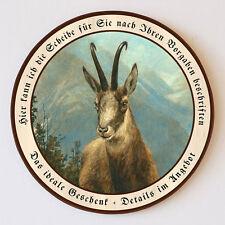 Gemse von Carl Zimmermann Gämse Gams Gamswild Schützenscheibe 41cm Wunschtext 32