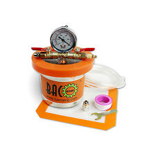 BACOENG Small Mini 4.4''(H) x 6.3''(W) Vacuum Degassing Chamber Stainless Steel