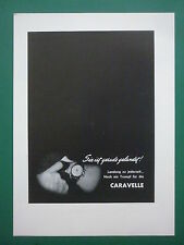 8/1963 PUB SUD AVIATION CARAVELLE AIRLINER MONTRE WATCH UHR ORIGINAL GERMAN AD
