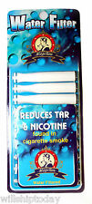 40 Water Filter cigarette filter reduces tar and nicotine aqua filled 4 X 10