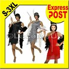 Gatsby Costume 1092's Flapper Vintage Charleston Fancy Dress +boa