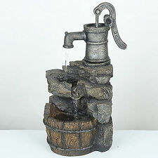 Waterfall Fountain Outdoor Garden Backyard Home Decor Water Pump And Rock Design