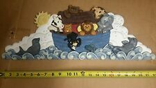 Figi Graphics Children's ceramic Noah's Ark hand painted wall plaque